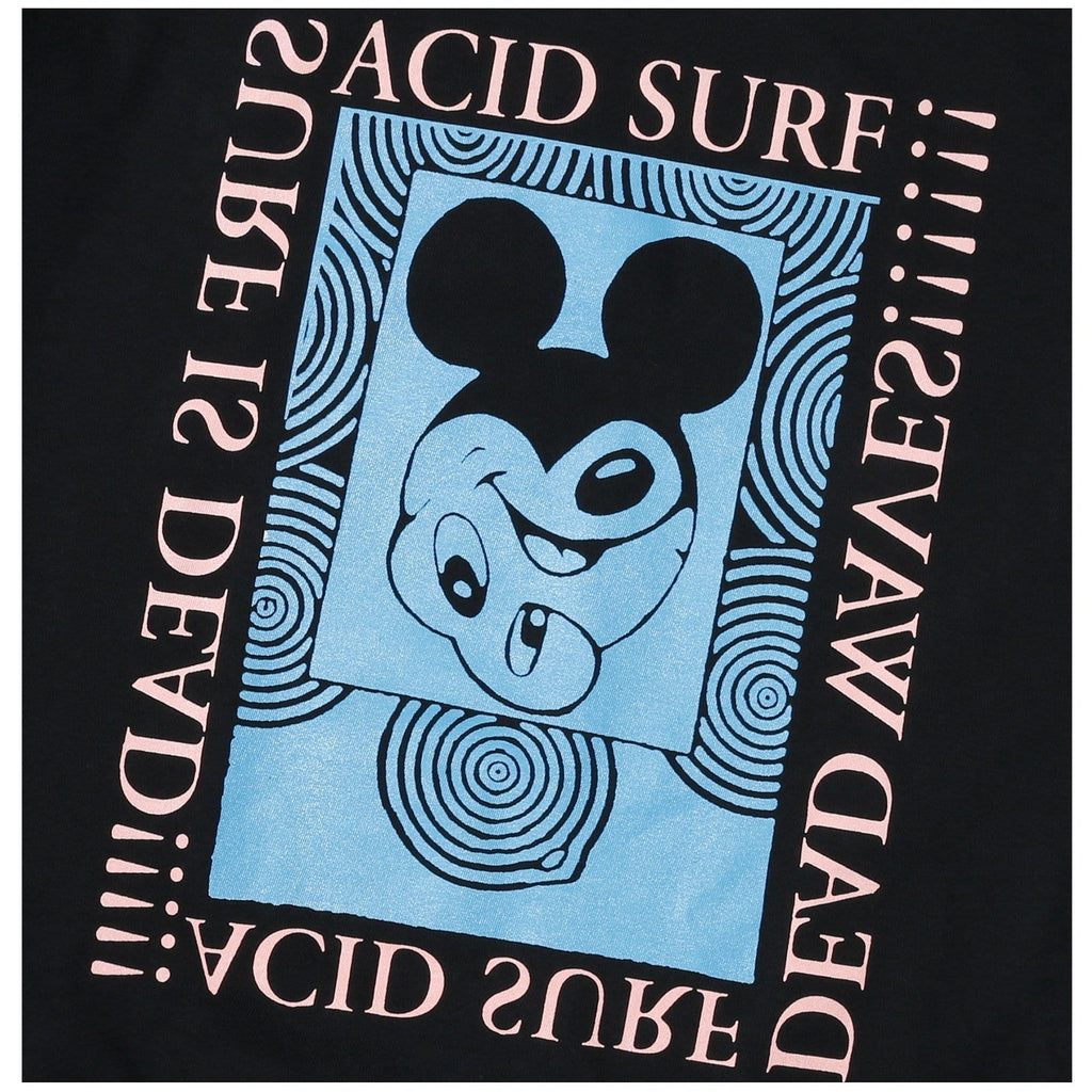 Surf Is Dead ACID SURF TEE Black