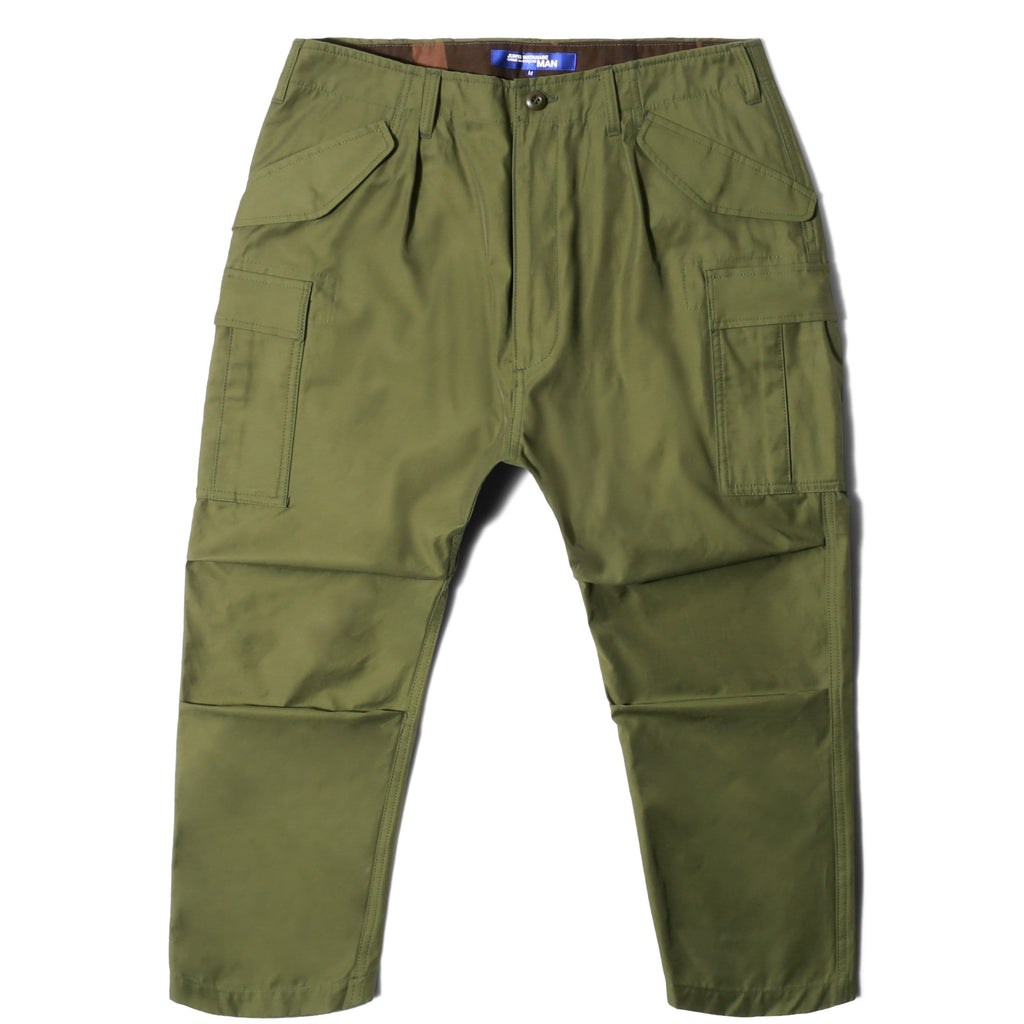 Junya Watanabe COTTON NYLON TWILL CARGO PANTS Khaki