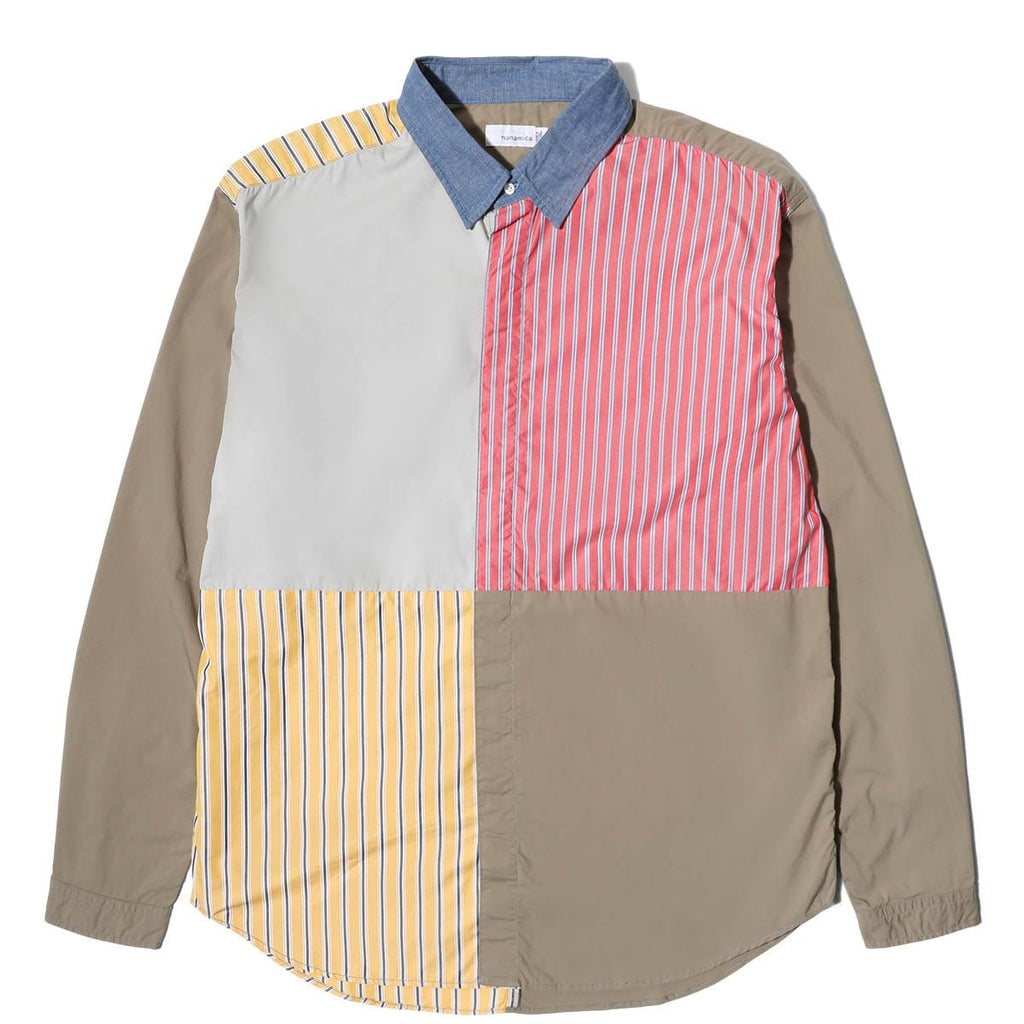 Nanamica CRAZY WIND SHIRT Beige/Red/Yellow