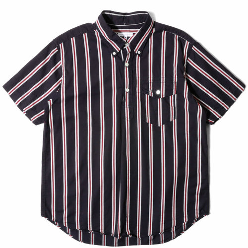 Engineered Garments POPOVER BD SHIRT Navy/Red/White
