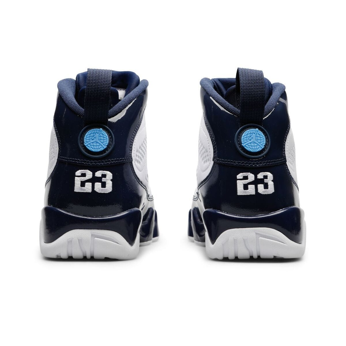 e08a5a197e89 AIR JORDAN 9 RETRO (WHITE UNIVERSITY BLUE-MIDNIGHT NAVY)  302370-145 ...