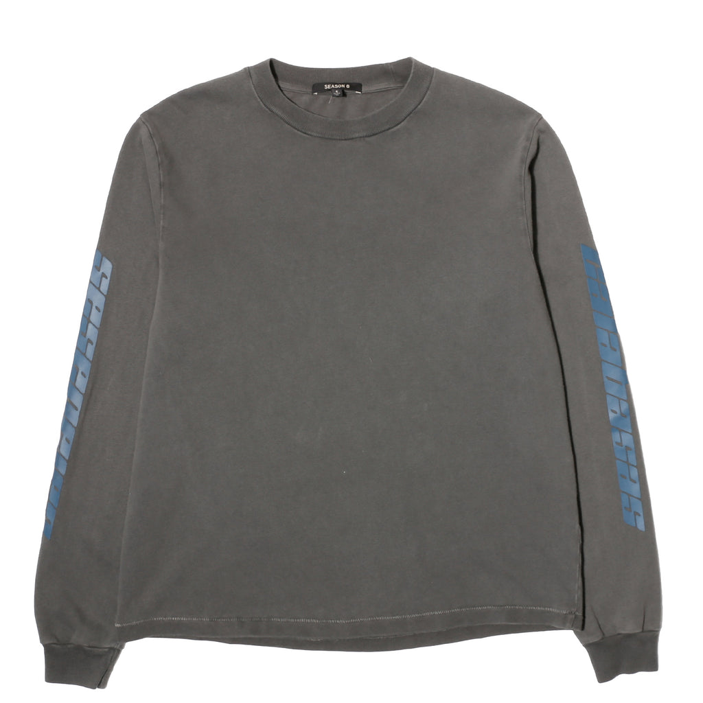 Yeezy Season 6 CALABASAS LONG SLEEVE T SHIRT Core Grey/Indigo