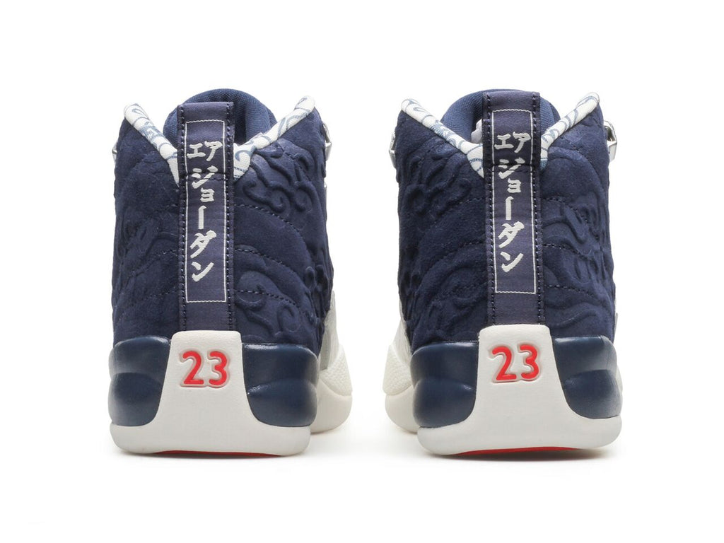 "Jordan Brand AIR JORDAN 12 RETRO PRM ""International Flight"" (College Navy/Sail-University Red) [445]"