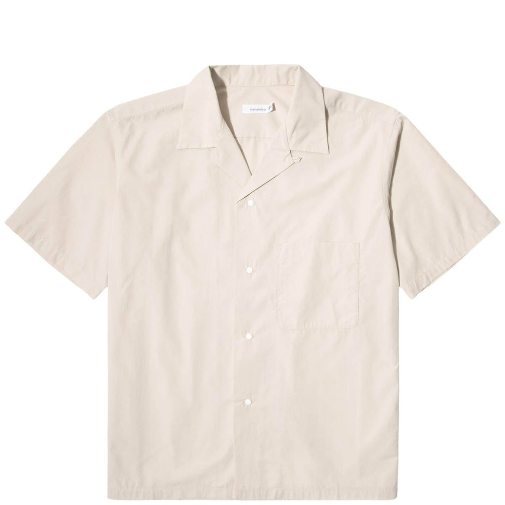 nanamica Shirts OPEN COLLAR WIND H/S SHIRT