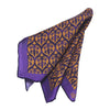 Violet Jharokha Silk Pocket Square