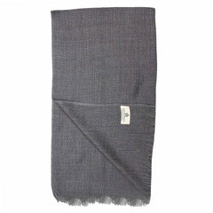 Grey Big Diamond Weave Super Fine Merino Wool Scarf