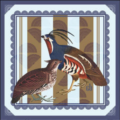 Hidden Himalayan Quail Silk Pocket Square