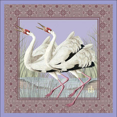 Dance of The Cranes Silk Pocket Square