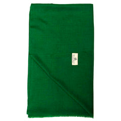 Dark Green Solid Super Fine Merino Wool Scarf
