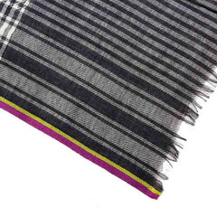 Black and White Houndstooth Super Fine Merino Wool Scarf