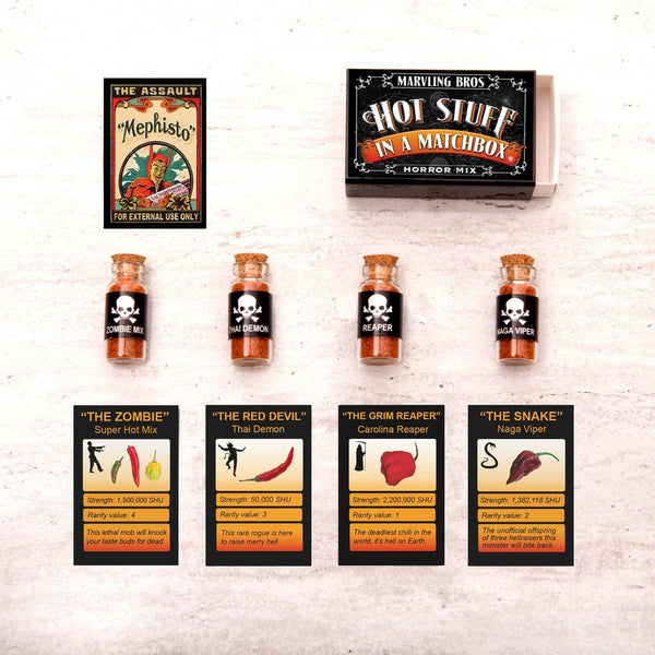 Marvling Bros. | Horror Mix: World's Hottest Chilli Powders