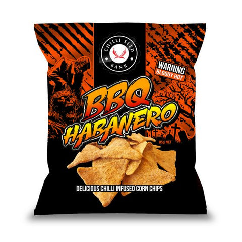 Chilli Seed Bank BBQ Habanero Corn Chips. Available in Australia at BLONDE CHILLI.