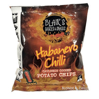 Blair's Death Sauce Habanero Chilli Cauldron Cooked Potato Chips.