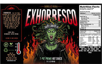 Burns and McCoy Exhorresco Hot Sauce for Shot Ones and Blonde Chilli Australia.