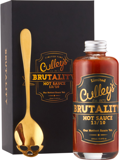 CULLEY'S Brutality Hot Sauce Limited Edition Gift Set is available at BLONDE CHILLI, Australia