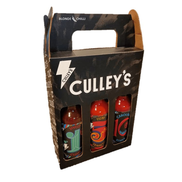 Culley's Grab N Go Pack (front view) - Sweet Chilli, Spicy Sriracha, Carolina Reaper.