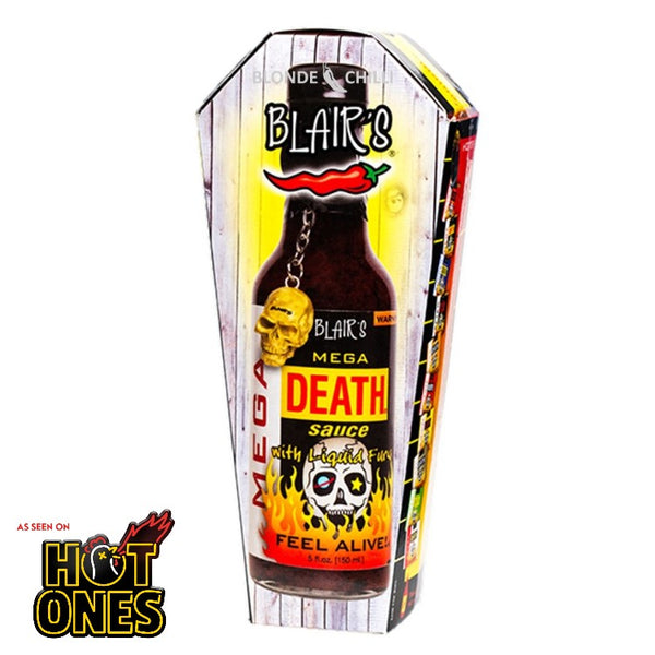 Blair's Mega Death Sauce at BLONDE CHILLI (Australia). As sen on hit YouTube show, Hot Ones.