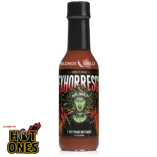 Burns and McCoy Exhorresco Hot Sauce for Hot Ones and Blonde Chilli Australia.