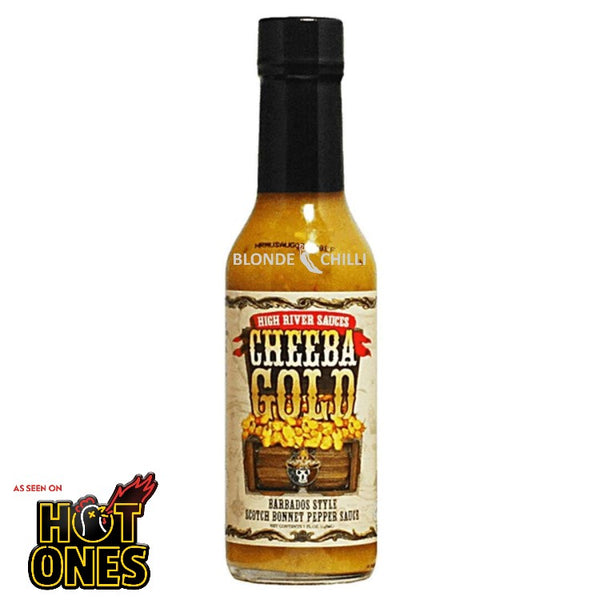 High River Cheeba Gold as seen on Hot Ones. Available at Blonde Chilli, Australia.