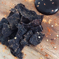 Quirky Jerky Spicy BBQ flavour is distributed by Blonde Chilli, Australia