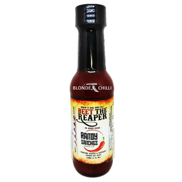 "Randy Sanchez Sauce Co.'s ""Beet The Reaper"" Hot Sauce. Available at BLONDE CHILLI, Australia."