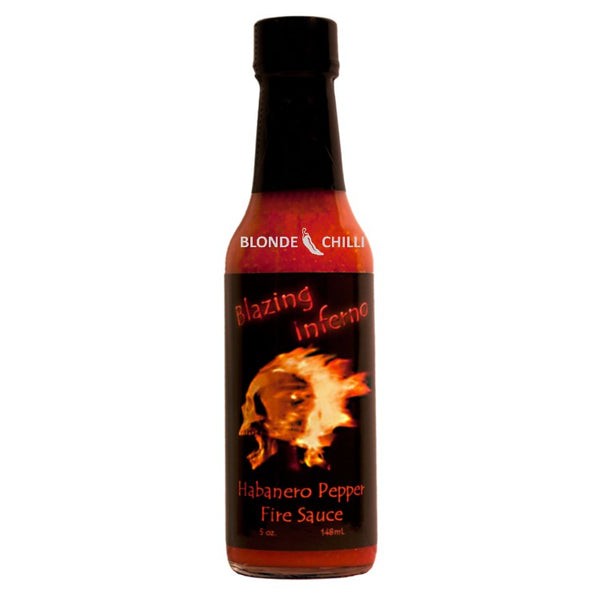 Sauceworks Co. Blazing Inferno Habanero Pepper Fire Sauce Sauce for Blonde Chilli Hot Sauce Shop, Australia.