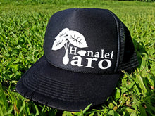 Load image into Gallery viewer, Hanalei Taro Trucker Hat White/Black