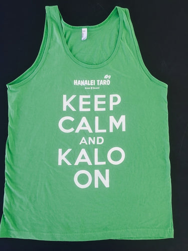 Hanalei Taro Keep Calm & Kalo On Green Tank