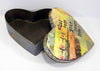 Heart shaped tin with lid off