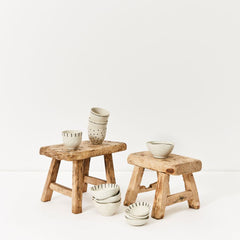 Stoneware bowls and cups