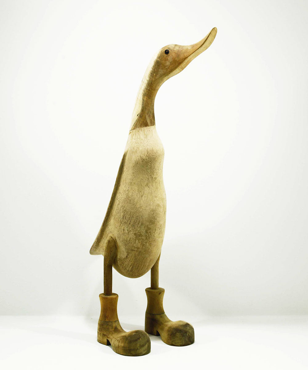 Bamboo wood carved duck 45 cm tall