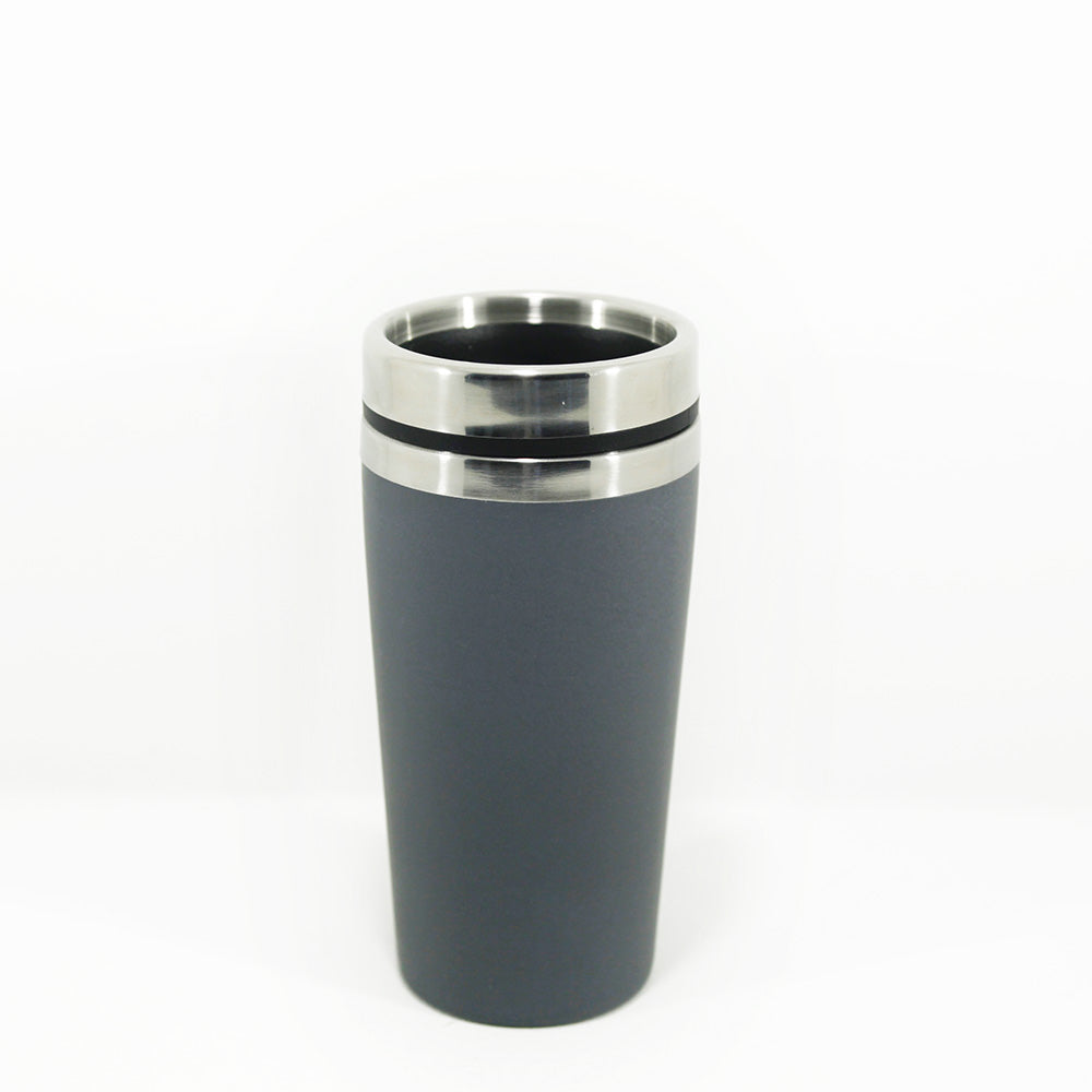 Bamboo and stainless steel Travel Mug - charcoal 450 ml