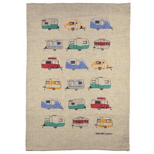 Tea Towel - caravans