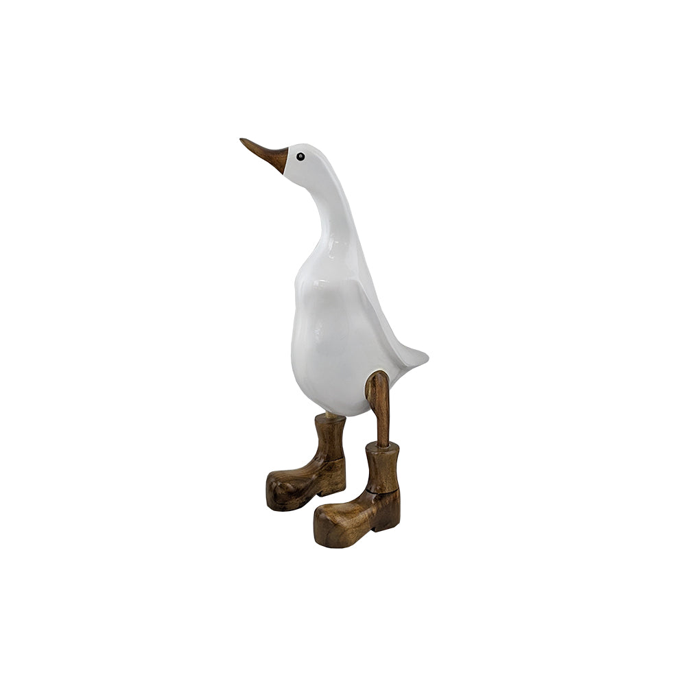 Duck with white lacquer and clear boots small