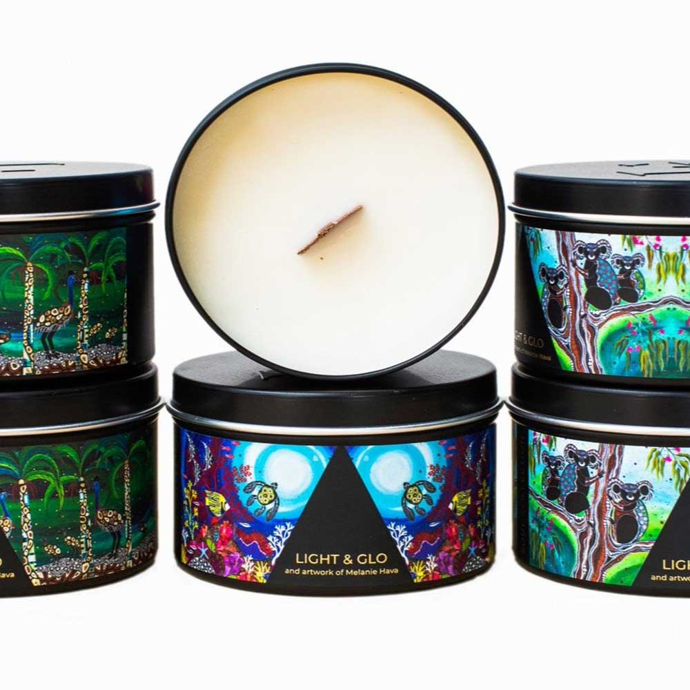 indigenous design candle bush essence fragrance