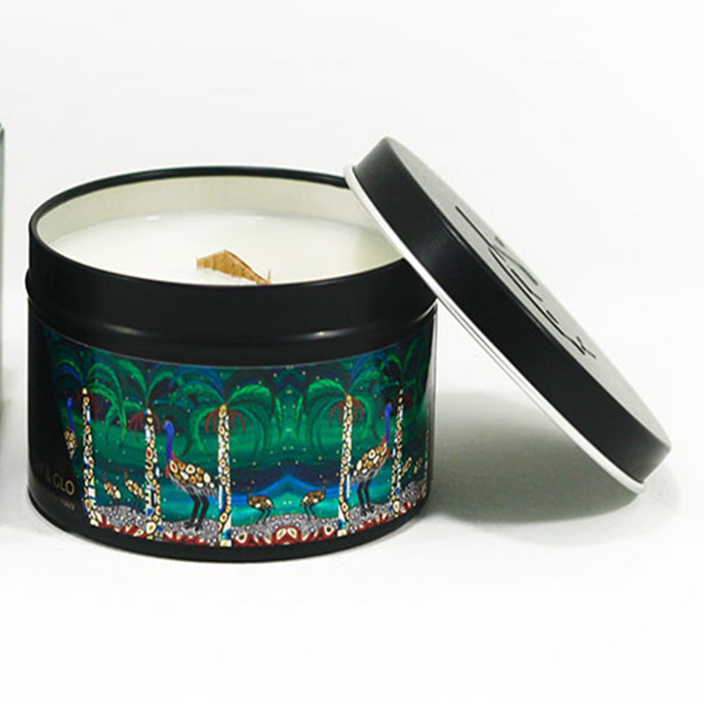 indigenous design candle sunken garden fragrance