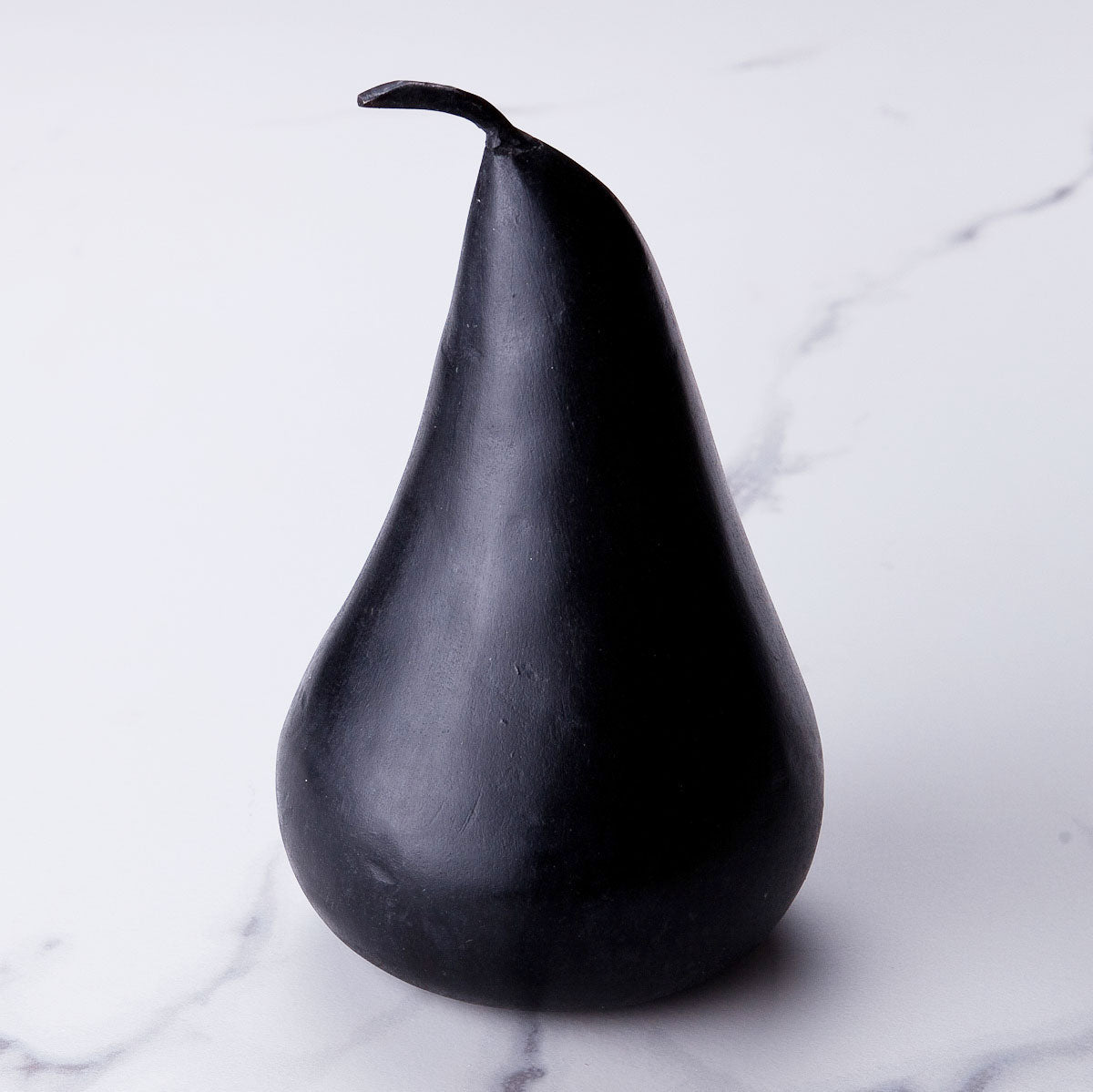 Large black marble pear