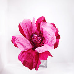 magenta paper flower extra large