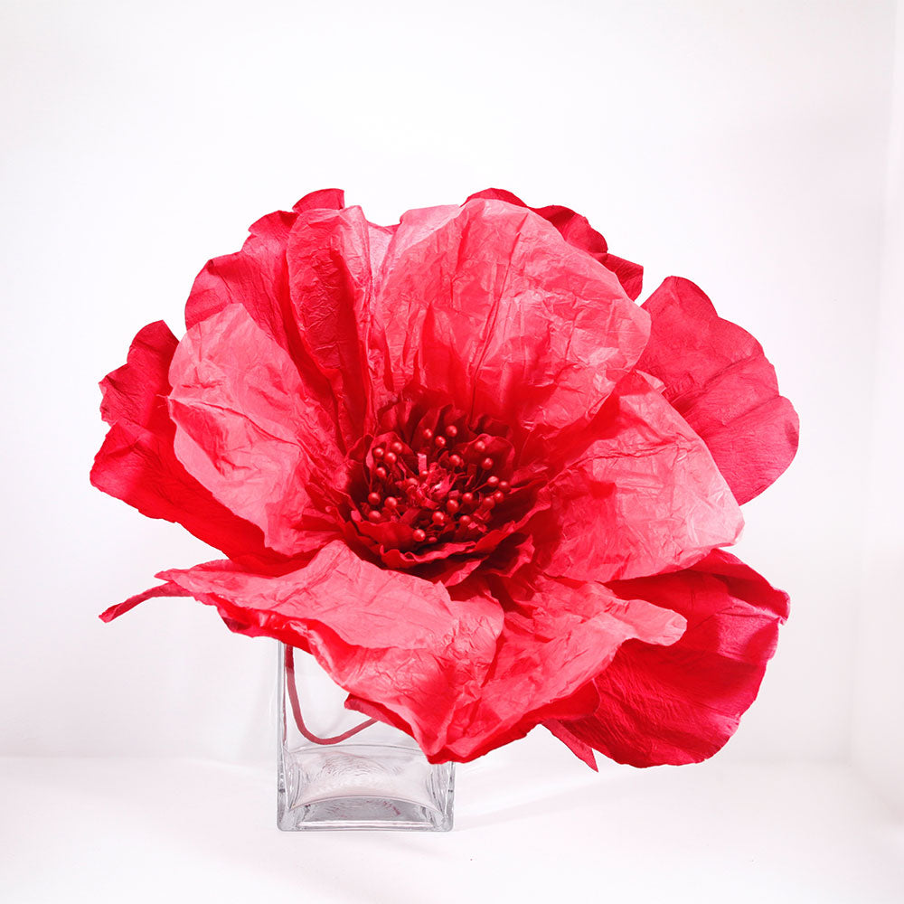Rich red paper flower extra large