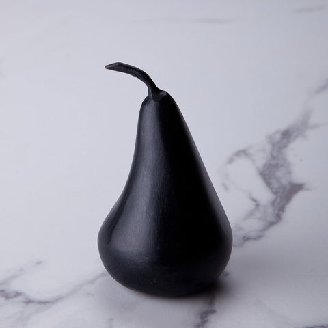 Small black marble pear