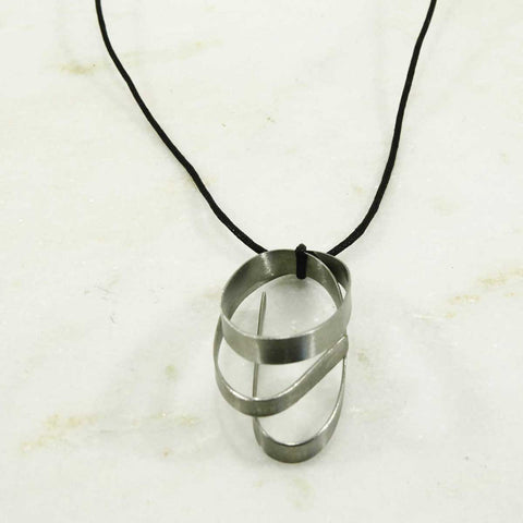 Eco friendly necklace - twist made from steel
