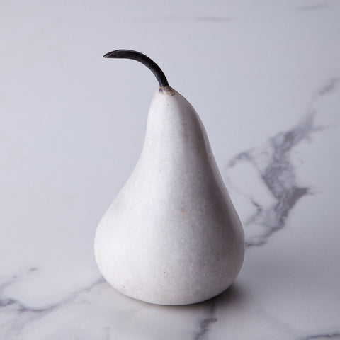 Small white marble pear