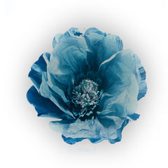 Teal blue paper flower extra large