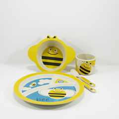 kids bamboo tableware set bumble bee design