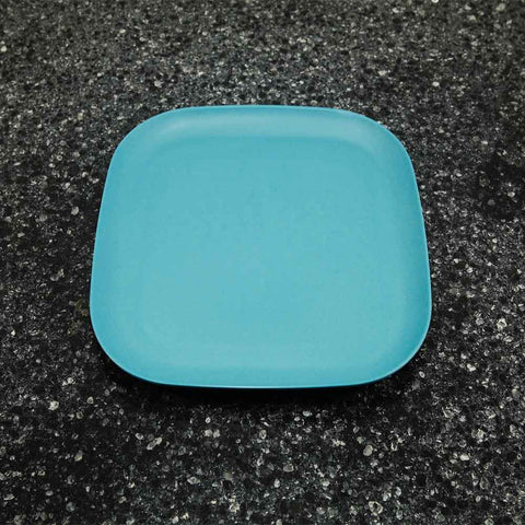 Bamboo plate  - teal 22cm