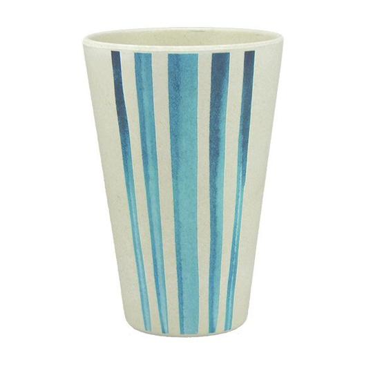 Tumbler made from bamboo with watercolour stripes