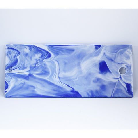 blue and white marbled porcelain platter