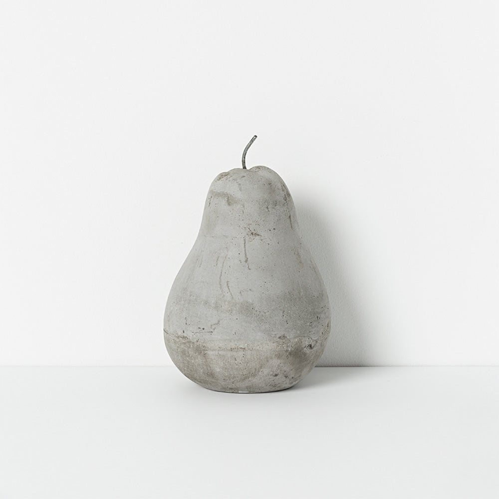 Grey concrete pear