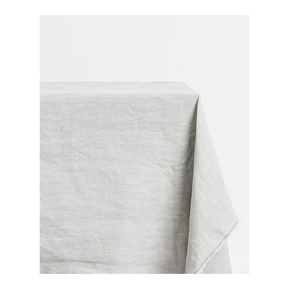 linen table cloth in grey