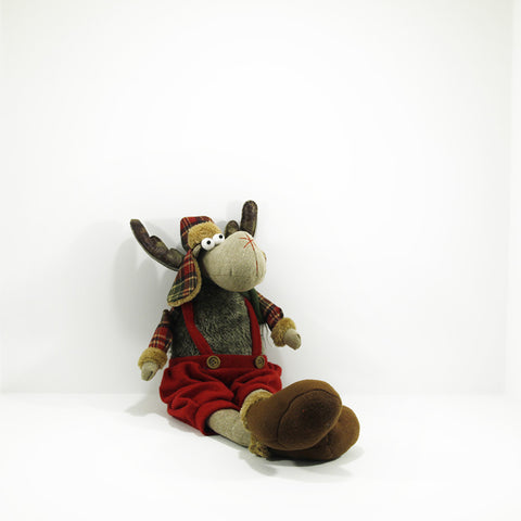 plush moose male seated